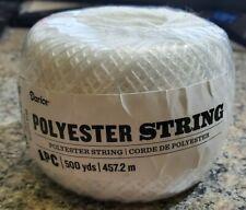 Roll Darice Polyester String, 500 yds, White, Nip, Crafts, Crochet. #8