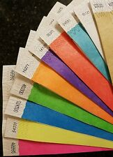 """300 3/4"""" (30 each of 10 colors) Paper Tyvek Wristbands, Tyvek Wristbands"""