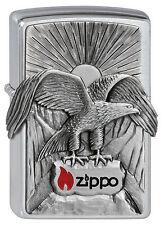 ZIPPO accendino Eagle ZIPPO Brushed Chrome Adler rapina UCCELLI NUOVO OVP oggetto da collezione!