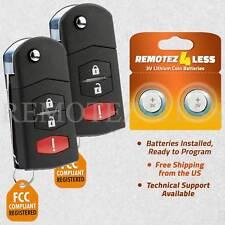 2 For Mazda 5 Keyless Entry Remote Car Key Fob Fits Mazda