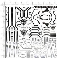 Detail Up 1:100 Scale MG 00 Raiser 00R Gundam Model Kit Silver Metal Stickers