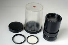 Leica 135mm F2.8 Leitz Wetzlar Elmarit-R 1 CAM Lens with Filter Ring and Filter