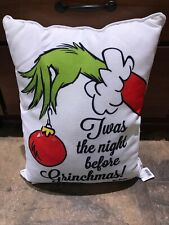 The Grinch Who Stole Christmas Pillow Home Decor Twas The Night Before Grinchmas