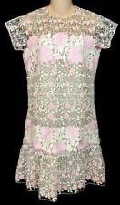 Giambattista  Valli Dress Pink White And Black Embroidered  size 40 Xs NWT