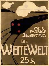 TRENO a vapore da viaggio Germania Vintage Pubblicità Poster Retrò Muro Stampa 1551py