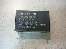 I/M Metallized Propylene Film Capacitor 10uF 10% 250V 60Hz **NEW** Qty.1