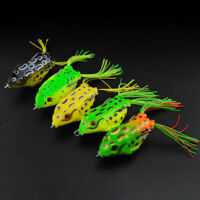 5PCS Large Frog Topwater Soft Fishing Lure Crankbait Hooks Bass Bait Tackle