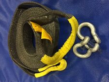 TSKINECTIC Kinetic recovery strap 60mm x 8000kgs BFmin 9m OAL & 2x 3.25T Shackle
