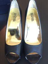 Michael Michael Kors Black Peep Toe Platform Heels Sz 9