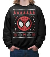 Spider-Man Themed Christmas Jumper Novelty Xmas Sweater Unisex Adults & Kids