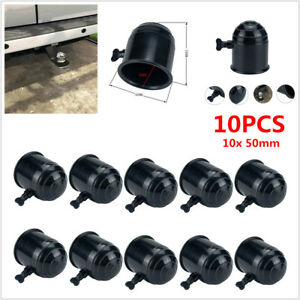 10PC 50mm Black Tow Ball Bar Cap Cover Towing Car Van Trailer Towball Protection