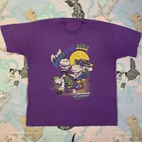 Vtg COOL IS THE RULE Ice Cream Eating Cow Single Stitch XL T-shirt RARE 80s/90s