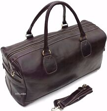 Leather Weekend Bag Large Travel Duffle Sports Gym Holdall Luggage RRP £195.00