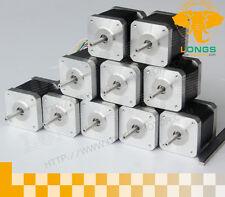 EU Free Shipping! 10PCS Nema17 stepper motor 0.4A 45oz.in 34mm 4Lead 3D printer