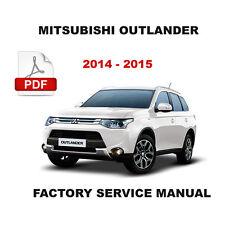 2014 - 2015 MITSUBISHI OUTLANDER OEM SERVICE REPAIR MAINTENANCE SHOP MANUAL
