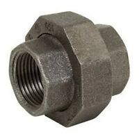 """1/2"""" BLACK MALLEABLE IRON PIPE FITTINGS UNION - P6797"""