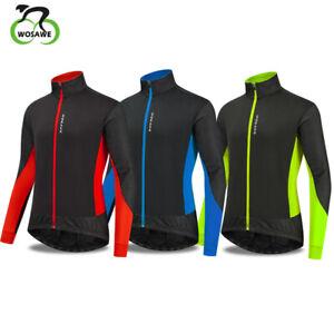 Cycling Jacket Windstopper Winter Thermal Fleece Windproof Long Sleeve Coat Men