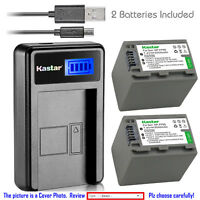 Kastar Battery LCD Charger for Sony NP-FP90 FP91 & Sony DCR-DVD755 DCR-DVD803