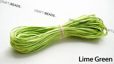 30FT 1mm Waxed Polished Cotton Braided Cord Macrame Beading String - Pick Color!