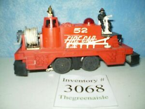 Original Vintage Lionel O Gauge Motorized 52 Fire Fighting Train Car