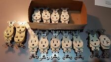Qty: 13 - LevitonMixed Lot2P 3 Wire Grounding Single Receptacle side wired