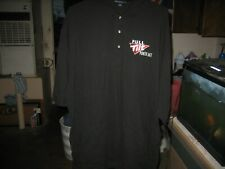 New without Tags Full Tilt Poker Mens Polo Shirt Black Embroidered Logo Size 3XL