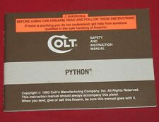 COLT Firearms Factory Python Manual Original 1993