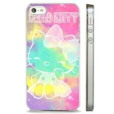 Hello Kitty Colourful Star Sky CLEAR PHONE CASE COVER fits iPHONE 5 6 7 8 X