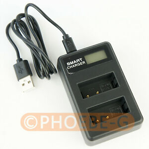 LP-E17 USB Dual Battery Charger With LCD Screen For Canon 800D 750D T6i