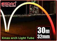 CHRISTMAS XMAS LIGHT OUTDOOR TUBING LDPE NON TOXIC UV ARCHES 32mm x 38mm x 30m
