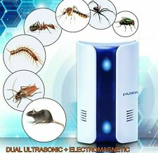 Ultrasonic Pest Repeller [2019 UPGRADED] for Mice Mosquito Fleas, Dual Nite Lite