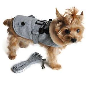 Doggie Design Wool  Dog Coat  Grey Herringbone XL