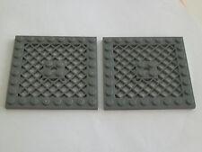 Lego 4151# 2x Platte Bauplatte Gitterplatte 8x8 in neu dunkelgrau grau 4504 7269