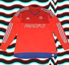 adidas x MACFLY~macdidas HyperStripe Soccer Jersey~Medium~Red/Orange/Blue/White