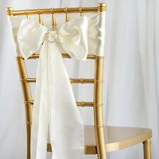 50/PK ~NEW~ Satin Chair Sash Bow Wedding Party Banquet 20+ Colors!
