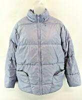 NIKE Womens Jacket Coat 14/16 Purple Polyester Padded Puffer