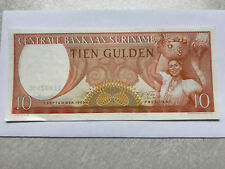 1963 Suriname 10 Gulden Unc. #5465