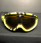 Youth Electric Ski Goggles Glasses Yellow With Carrying Bag