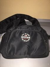 Guess Sport Nylon Cross Body Small Messenger Bag Black 1990s Pack