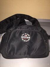 Guess Sport Nylon Cross Body Small Messenger Bag Black 1990s Pack