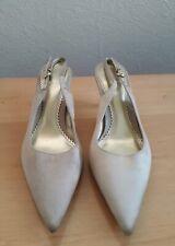 DOLCIS size 4 vintage gold slingback sandals BNWOB kitten heel