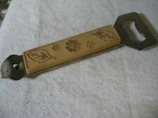 Vintage TRAVCO Brown w/ Nature Scene Bottle Opener ~ Obvious Wear ~