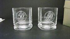 Heublein Smirnoff Vodka 50th Anniversary Etched Glass 1939-1989