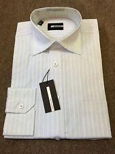 "Pierre Cardin Cotton Rich Self Stripe Formal Shirt/Pale Blue - 15"""