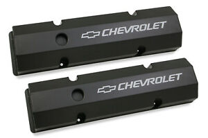 Holley 241-288 Chevy Bowtie Fabribcated Valve Covers Small Block Chevy V8's