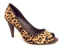 DONALD PLINER Leopard Size 9 Peep Toe Heels Pumps Shoes