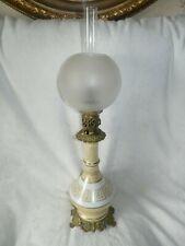 Lampe à huile empire avec boule et personnage antique