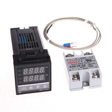 100-240v PID Digital Temperature Control Controller + SSR + K Thermocouple Probe