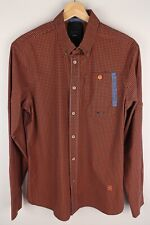 G-Star Raw CorrectLine New BD Men Casual Shirt Check Brown Stretch Cotton size M