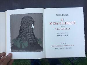 Le Misanthrope Molière illustré par DUBOUT Editeur André Sauret. 1954